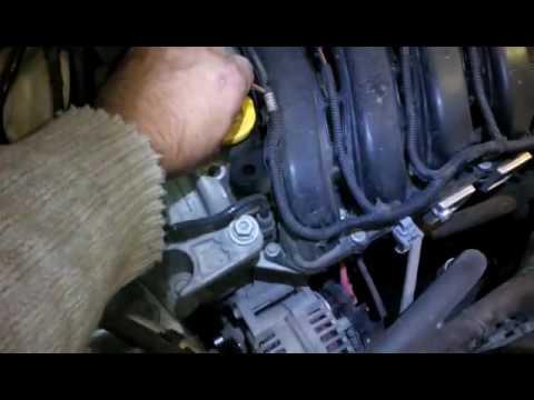 Расположение в Renault Clio щупа вариатора