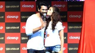 getlinkyoutube.com-Cute Alia Bhatt KISSES Shahid Kapoor At Shandaar Promotions