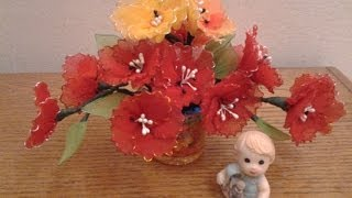 getlinkyoutube.com-Nylon Stocking Flowers