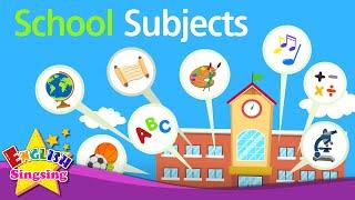 getlinkyoutube.com-Kids vocabulary - School Subjects - favorite subject - English educational video