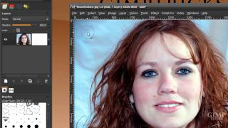 getlinkyoutube.com-Remove the background from hair in GIMP - tutorial (Cut out hair)