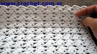 getlinkyoutube.com-Punto Fantasía N° 39 en tejido crochet tutorial paso a paso.