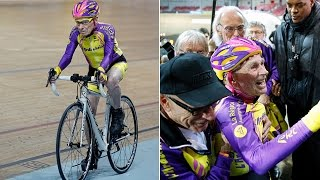 getlinkyoutube.com-105-Year-Old Cyclist Breaks World Record, Proves Former Coach Wrong