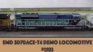 getlinkyoutube.com-EMD SD70ACe-T4 Demo Locomotive #1503