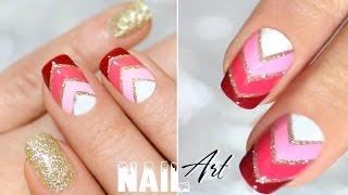 Holiday Nail Art Designs Праздничный Дизайн ногтей градиент