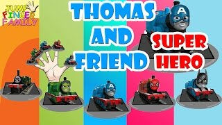 getlinkyoutube.com-SUPER HERO Thomas and Friends Family    Thomas and Friends Finger Family Nursery Rhymes