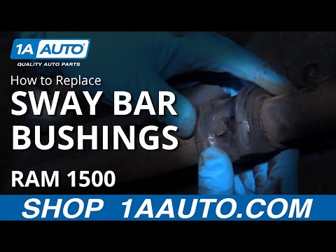 How to Replace Front Sway Bar Bushings 94-10 Dodge Ram 1500