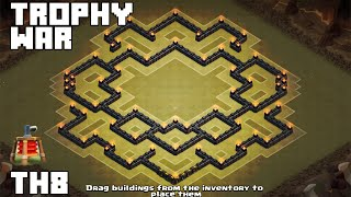 getlinkyoutube.com-Clash Of Clans - Best Town Hall 8 (TH8) War Base 2015 [Falchion]