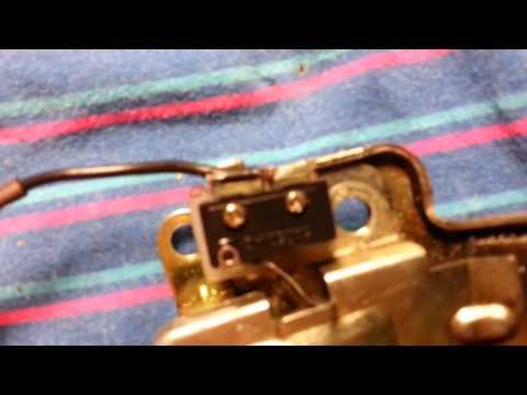 Ремонт выключателя освещения багажника Ланос(Сенс, Шанс)
