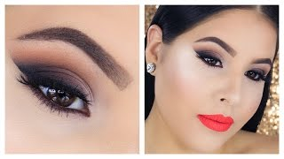 getlinkyoutube.com-Last Minute Thanksgiving Makeup Tutorial | Smokey Wing | Nelly Toledo