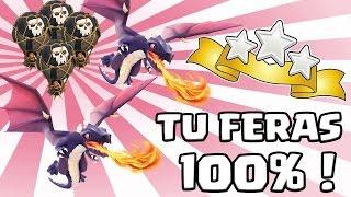 getlinkyoutube.com-Clash of Clans | Que des 100% en Dragons Ballons | Stratégie d'attaque HDV7 HDV8 | Tuto 3 étoiles