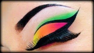 getlinkyoutube.com-Neon Make Up Tutorial using Sleek MakeUp & Essence ft Kosmetik4Less