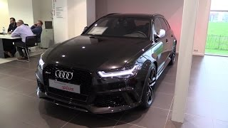 getlinkyoutube.com-Audi RS6 2017 Start Up, Exhaust Sound, In Depth Review Interior Exterior