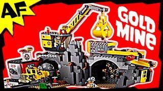 getlinkyoutube.com-Lego City GOLD MINE 4204 Stop Motion Build Review