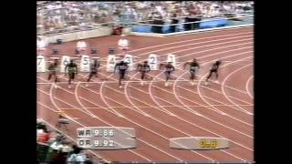 getlinkyoutube.com-1992 Olympics Men's 100m Final, Barcelona, Spain