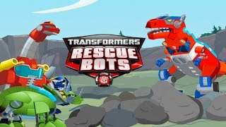 getlinkyoutube.com-Transformers Dino Island, Dino Bots Save Frankie and Proffessor Baranova GAME REVIEW
