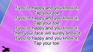 getlinkyoutube.com-Karaoke for kids - If You Are Happy And You Know It - slow - key -3 - with backing melody