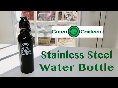 😍  GREEN CANTEEN 25-Ounce Stainless Steel Water Bottle ✅