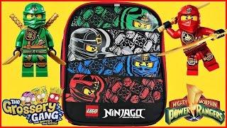 getlinkyoutube.com-Ninjago Surprise Lunchbox LEGO Marvel 500 Power Rangers Grossery Gang Trolls Yummy World