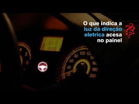 Luz de direcao eletrica acesa no painel: volante enrijecido