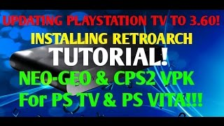 getlinkyoutube.com-PSTV Hacks! Manually Update to 3.60 HENKAKU! Step By Step RETROARCH Guide CPS2 & Neogeo Vpk!