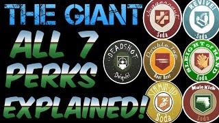Black Ops 3 : The Giant - ALL 7 PERKS Explained! 7TH PERK BO3 ZOMBIES