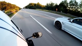 BMW M4 Coupe vs Yamaha R6 - TOP SPEED Part 1 [1080p]