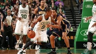 getlinkyoutube.com-Rajon Rondo 12 points,11 assists,7 rebounds vs Indiana Pacers 3/1/2014 - Full Highlights - [HD]