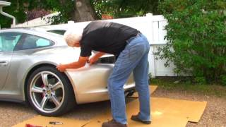 getlinkyoutube.com-Porsche 911, 991.  Remove;  Rear Bumper, Air Box, Spoiler