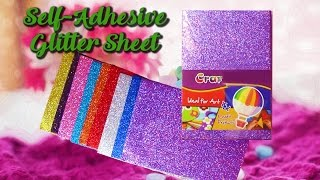 Self-adhesive Glitter sheet unboxing. || Project file decoration material.