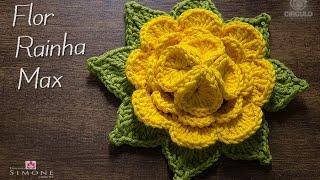 getlinkyoutube.com-Professora Simone - Flor em crochê Rainha Max