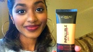 getlinkyoutube.com-L'Oreal Infallible Pro-Matte Foundation Review/First Impression