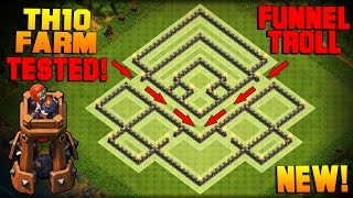 getlinkyoutube.com-Clash of Clans | BEST TH10 Farming Base w/ NEW BOMB TOWER | Town Hall 10 Hybrid Base TESTED! [2016]