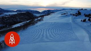 Art at Altitude: Snow Murals in the Mountains