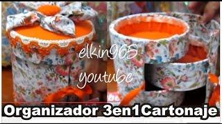 getlinkyoutube.com-Caja organizadora cilindro 3 en 1 forrada en tela Día de la madre 2013