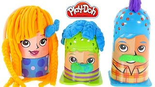 getlinkyoutube.com-Play-Doh Crazy Cuts Hair Designer Family Pack! Mrs. Play Doh Anna Style Hair Toys by DCTC