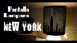 getlinkyoutube.com-Pantalla de Lampara New York Estrellado de Papel Bellisimo y Facil