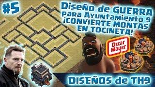 getlinkyoutube.com-Diseño de Ayuntamiento 9 Anti-★★★ | ¡Convierte Montapuercos en Tocineta! | Diseño de Aldeas TH9 #5