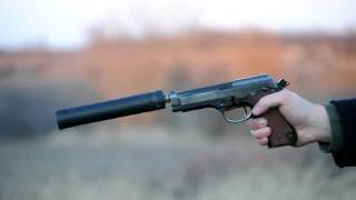 getlinkyoutube.com-Shooting the Beretta 92 with the AAC TiRANT 9mm silencer