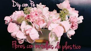 getlinkyoutube.com-Flores con botellas de plástico || DIY con Pe