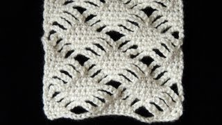 getlinkyoutube.com-Crochet : Diamantes Apilados