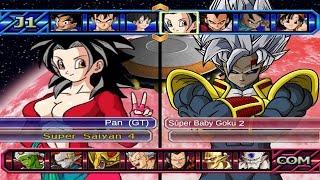 getlinkyoutube.com-Dragon Ball Z Budokai Tenkaichi 3 - Pan SSJ4 VS Súper Baby Goku Red Potara *Epic  Battle (1080p)