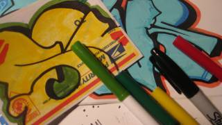 getlinkyoutube.com-Best Markers For Graffiti Stickers - Making Good Stickers With Cheap Markers-