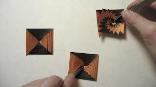 getlinkyoutube.com-First Origami Fold in 2014: Single Strip Square Curlicue (Assia Brill)
