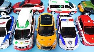 getlinkyoutube.com-헬로카봇 CarBot 또봇 미니특공대 댄디 구급차 스카이 프론 경찰차 장난감 Carbot TOBOT robot car toys