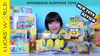 getlinkyoutube.com-Spongebob Squarepants Sponge out of Water Movie All- New Toys Opening and Review