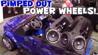getlinkyoutube.com-Worlds Most Expensive POWER WHEELS Cars? Custom 12v Sound System Installs & Fiberglass Body Work