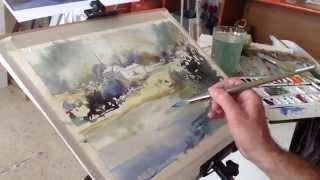 getlinkyoutube.com-como pintar acuarela paso a paso. Watercolor demo. Watercolor tutorial.