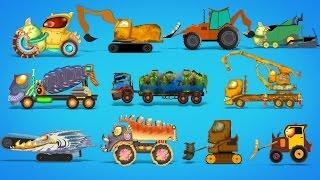 getlinkyoutube.com-scary construction vehicles | Halloween cars for children