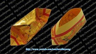 getlinkyoutube.com-【CYS教程】敬神折纸~元宝の七(Origami~Gold Ingot)